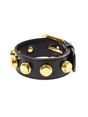 De Force studded leather cuff
