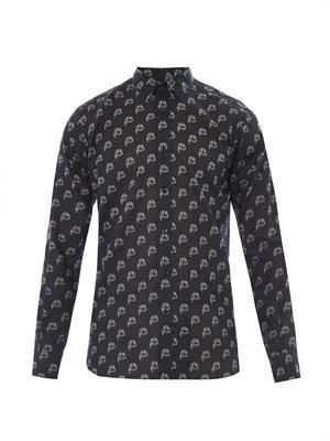 Blood Luster fang-print cotton shirt