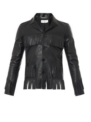 Curtis tasselled leather jacket