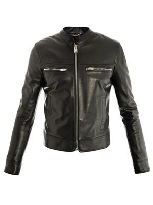 Collarless motorcycle jacket