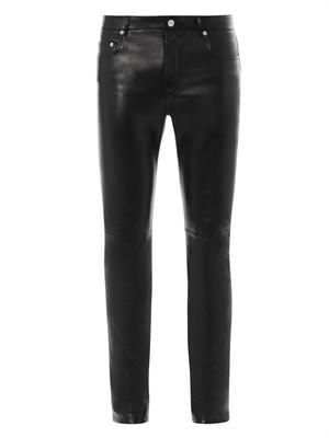 Skinny-leg nappa-leather trousers