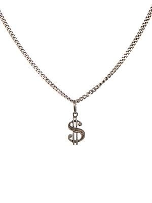 Dollar sign sterling-silver necklace