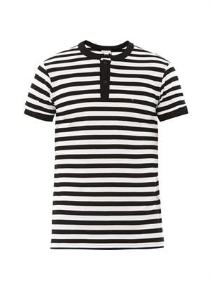 Stripe piqué polo shirt