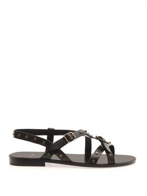 Woodstock leather sandals