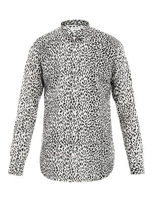 Leopard-print cotton-voile shirt