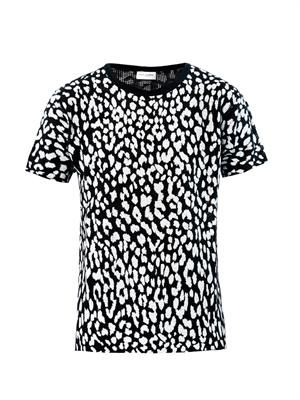 Knitted animal-print T-shirt