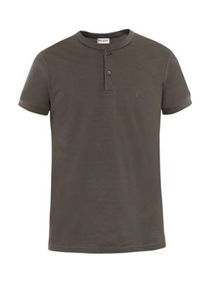 Short-sleeve piqué polo top