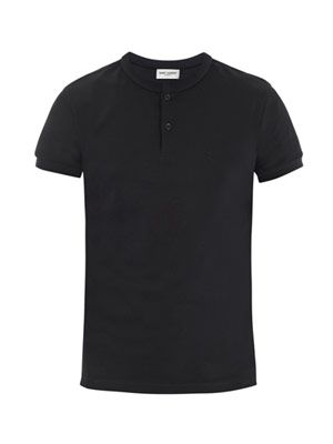 Short-sleeve pique polo top