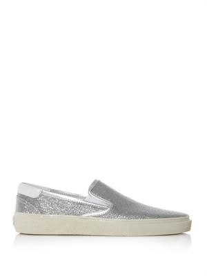 Glitter slip-on trainers