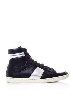 SL/01H leather high-top trainers