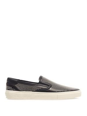 Studded slip-on trainers