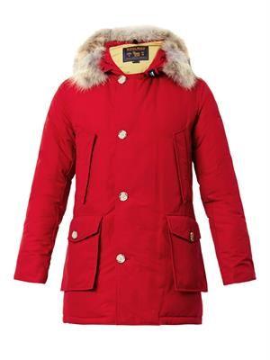 Arctic fur-trimmed parka