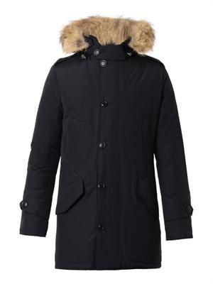 Polar fur-trimmed parka