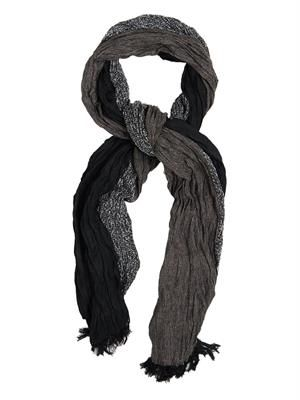 Twisted wool-blend scarf