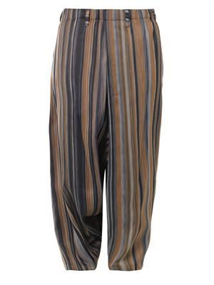 Oversized stripe-weave trousers