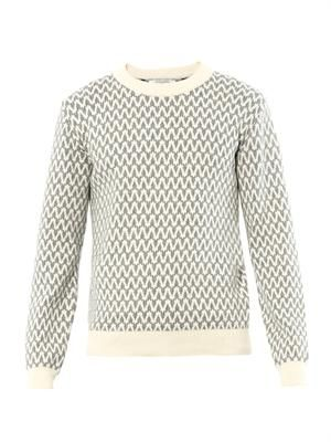 Pattern cotton-knit sweater