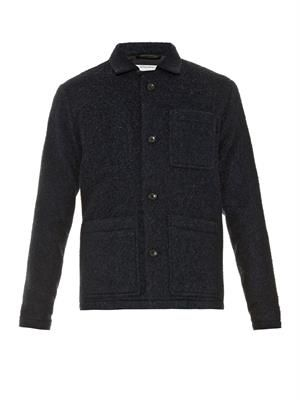 Single-breasted boiled-wool jacket