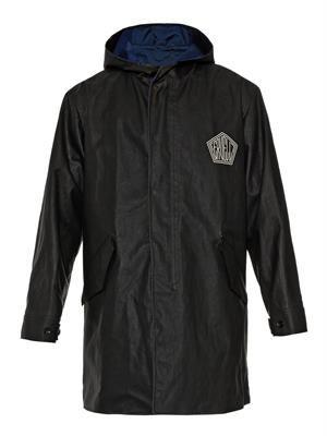 Rubberised-cotton hooded coat