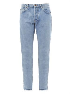 Straight-leg selvedge-denim jeans