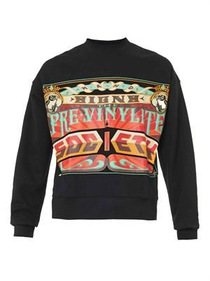 Society-print sweatshirt