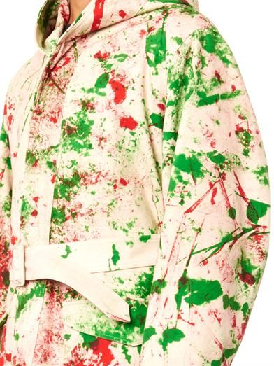Raf Simons/Sterling Ruby Sterling Ruby hand-painted hooded parka