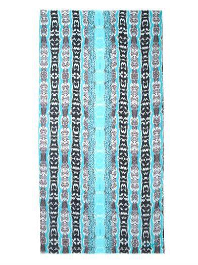 Diane Von Furstenberg Kenley Oasis Snake print scarf