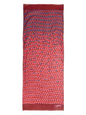 Ballet Rose-print scarf