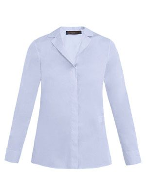 Gaia reverse-collar shirt