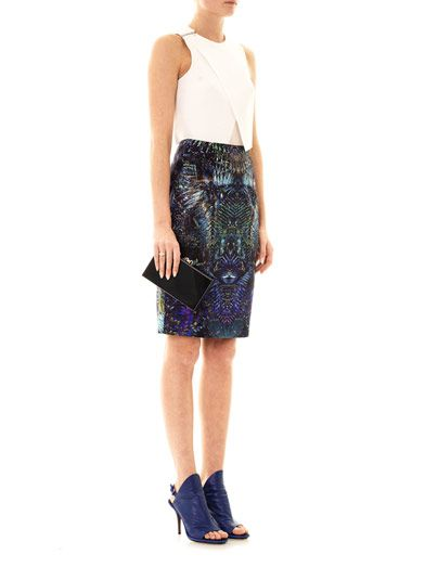 Josh Goot Digital forest-print skirt
