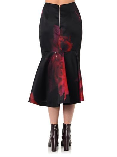 Josh Goot Rose flared pencil skirt