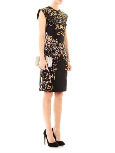 Josh Goot Leopard Vector raglan dress