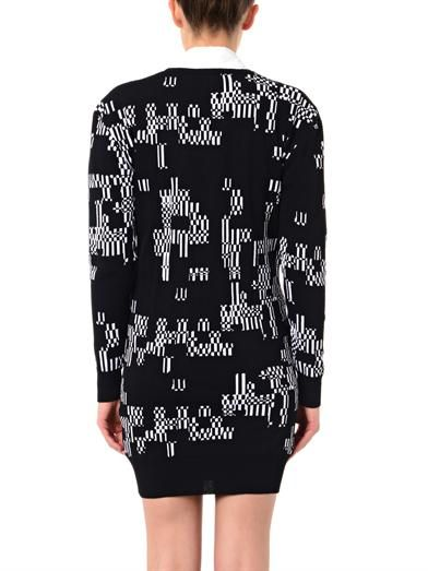 Josh Goot Glitch-intarsia knit dress