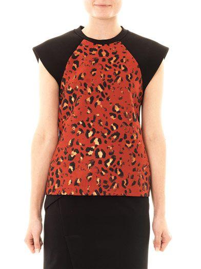 Josh Goot Leopard jacquard muscle T-shirt