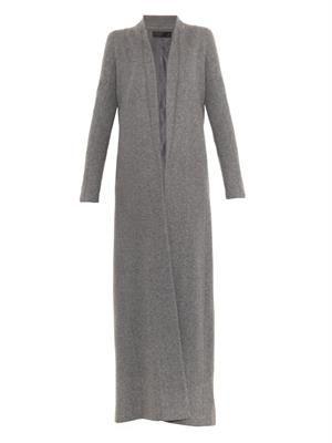 Full-length wool-blend coat
