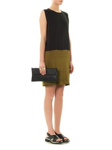 Haider Ackermann Bi-colour silk shift dress