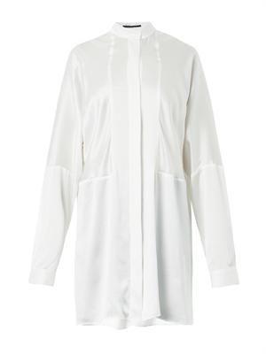 Dali long-length silk shirt