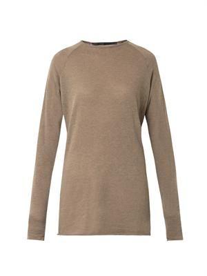 Fine-knit wool sweater
