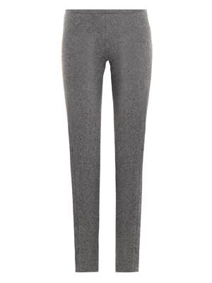 Wool-blend skinny trousers