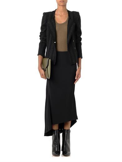 Haider Ackermann Bias-cut crepe skirt