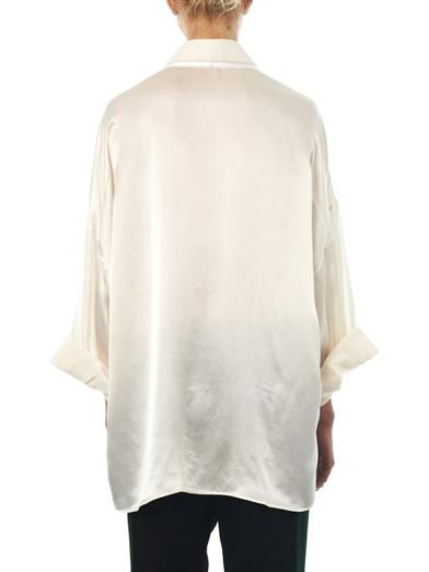 Haider Ackermann Nemesis V-neck silk shirt