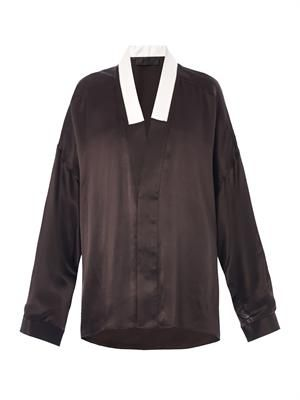 Nemesis V-neck silk shirt