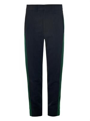 Hathor grosgrain-stripe trousers