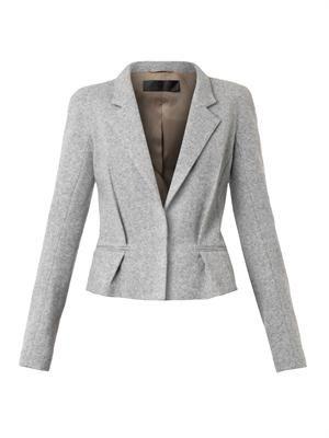 Single-breasted wool-blend jacket