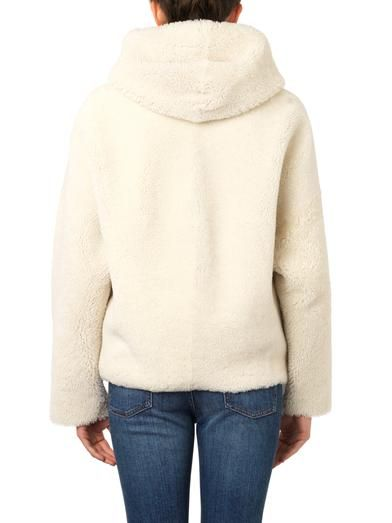Inès & Maréchal Hooded shearling short-length coat