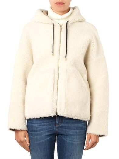 Inès & Maréchal Hooded shearling short-length coat