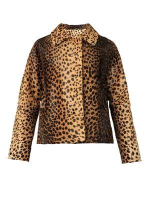 Wolga leopard-print calf-hair jacket