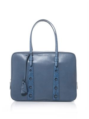Wharton leather and crocodile tote