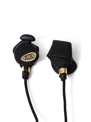Bight nappa-leather in-ear headphones