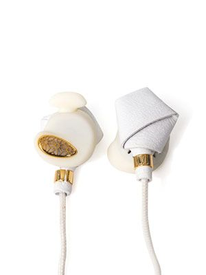 Bight nappa-leather in-ear headphones