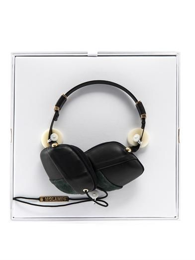 Molami Pleat nappa leather over-ear headphones